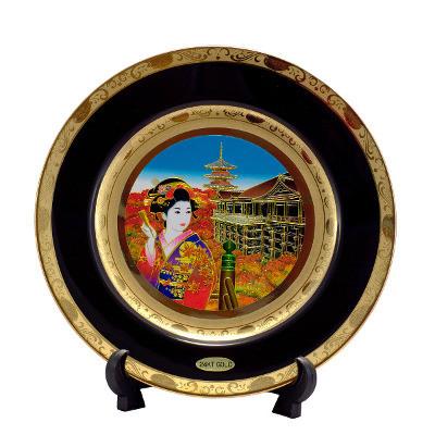 Японская сувенирная тарелка «Осень»