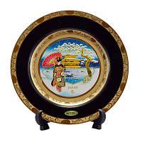 Японская сувенирная тарелка «Зимний пейзаж», фото 1