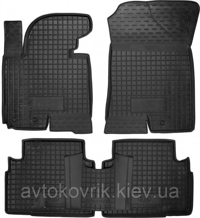 Полиуретановые коврики в салон Kia Sportage III (SL) 2010-2016 (AVTO-GUMM)