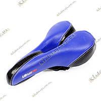 VeloPlus Анатомическое велосипедное седло (сине-черное)