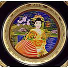 Японская сувенирная тарелка «Майко на берегу реки», фото 2