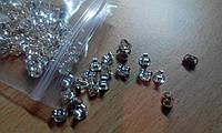 Заглушки на серьги-гвоздики, посеребряные, 925 проба