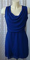 Платье модное красивое синее мини WalG7 р.44 6606
