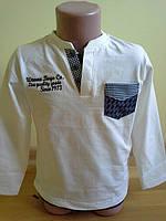 Джемпер для мальчика с карманами и латками на рукавах 100% хлопок. Wanex