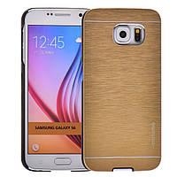 Чехол Motomo Line Series для Samsung Galaxy S6 G920F/G920D Duos Gold