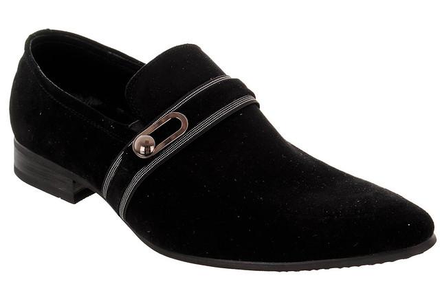 Мужские замшевые туфли FORT UNO  43  черный