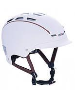 Велошлем Casco Urban TC Plus white-brown (MD)