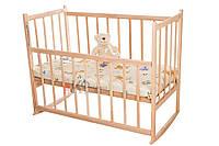 Кроватка детская КФ колеса + качалка