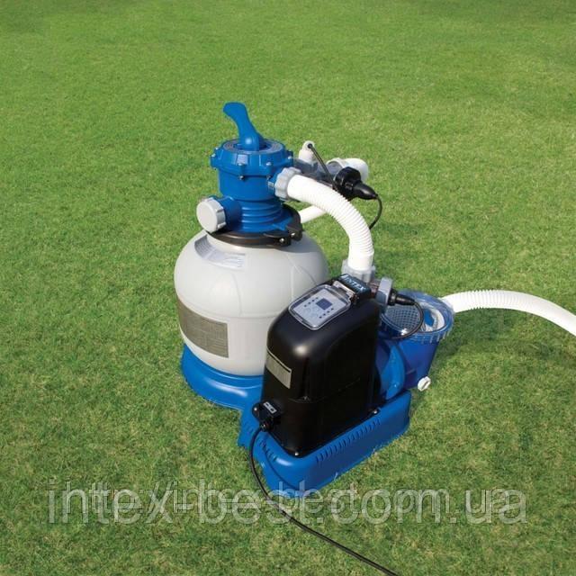 Песочный фильтрующий насос INTEX 28646 (56674) Производительность: 6000 л/ч. +ПЕСОК В ПОДАРОК!