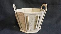 Кадка деревянная с ручками 24х22х19,5 см 145\115 (цена за 1 шт. +30 грн.), фото 1