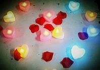 Светодиодная свеча в форме сердца