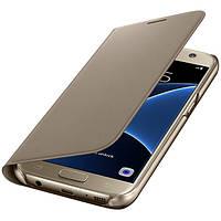 Чехол Samsung Flip Wallet Orig для Samsung Galaxy S7 G930 Gold
