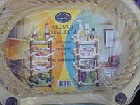 Пластиковая 4 ярусная полка в ваннуюкомнату либо на кухню, фото 1