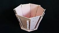 Кадка деревянная для цветов 22х22х14,5 см 145\115 (цена за 1 шт. +30 грн.)