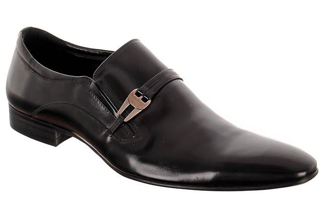 Мужские классические кожаные туфли ELADORATE CO86-9A  44  черный скидка