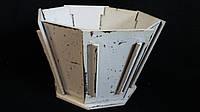 Кадка деревянная для цветов 22х22х14,5 см 145\115 (цена за 1 шт. +30грн.)