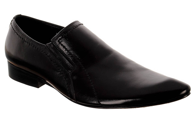 Чоловічі класичні шкіряні туфлі ELADORATE MP033-8 45 чорний