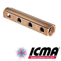 Коллектор простой 3/4*1/2 на 4 выхода распределительный Icma арт. 1102