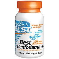 Бенфотиамин, Doctor's Best, 80 мг, 120 капсул. Сделано в США.