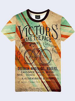 Мужская футболка Ретро велосипед
