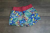 Катоновые шорты для девочек. 4- 8 лет