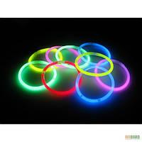 Неоновые светящиеся браслеты, набор 100 штук
