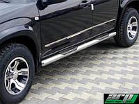 Боковая защита (труба, сталь) Toyota Rav4