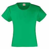 Зеленая футболка для девочек (Комфорт)