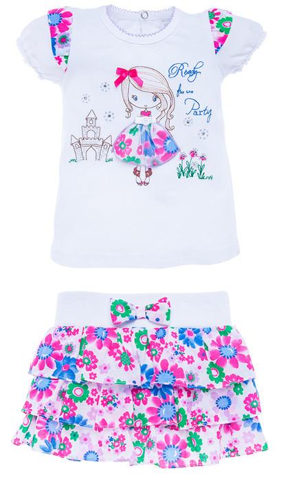 Костюм: футболка и юбка р-ры 74