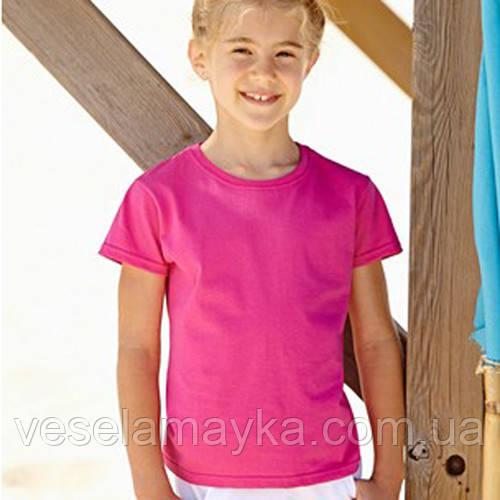 Малиновая футболка для девочек (Комфорт)