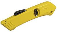 Нож Stanley 19мм трапеция 165мм выдвижное лезвие с возвратной пружиной, отсек для лезвий, безопасный STHT0