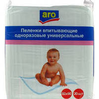 Одноразовые пеленки Aro 60*60 см, 20 шт