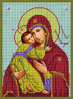 Схема для вышивания бисером Владимирская икона Божьей Матери КМИ 4020