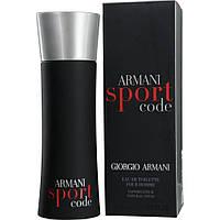 Мужская туалетная вода Armani Code Sport (освежающий древесно-цитрусовый аромат)