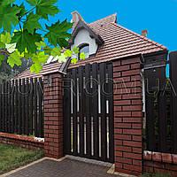 Ворота и калитки из штакетника металлического