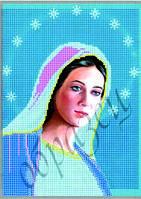 Схема для вышивания бисером икона Пренепорочная Божья Матерь Дева Мария КМИ 4011