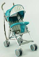 Детская прогулочная коляска голубая