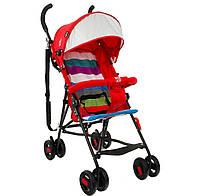 Детская прогулочная коляска красная