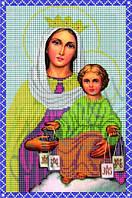 Схема для вышивания бисером икона Святого Скапулярия Дева Мария КМИ 4006