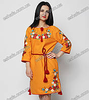Вышитое платье в украинском стиле с маками