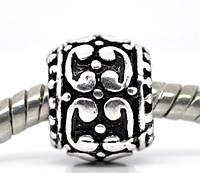 Шармы, бусины Pandora, Стоппер для браслета Пандора, металлические бусины
