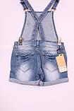 Жіночий джинсовий комбінезон з шортами, фото 3