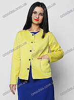Стильный женский пиджак жёлтый