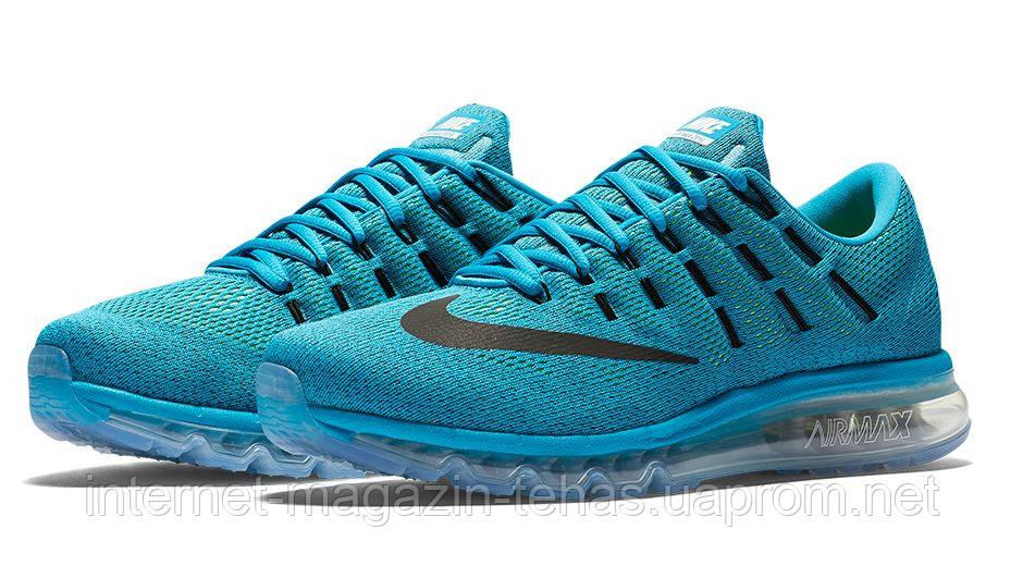 5979bb6e1572 Кроссовки мужские Nike Air Max 2016 голубые - Интернет-магазин