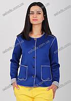 Стильный женский пиджак синий