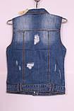 Модна жіноча джинсова жилетка, фото 2