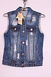 Модна жіноча джинсова жилетка, фото 3