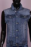 Женская джинсовая жилетка больших размеров, фото 2