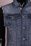 Женская джинсовая жилетка больших размеров, фото 3
