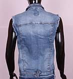 Женская джинсовая жилетка больших размеров, фото 4